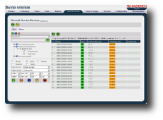 David system - the network management system: Network Service Browser Web application